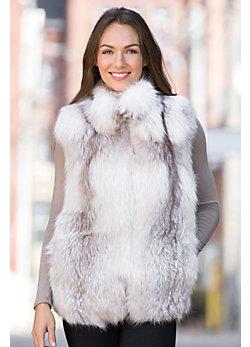 Sabrina Amber Fox Fur Vest