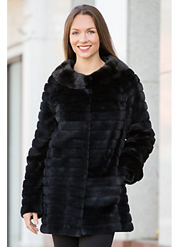 Jackie Sheared Danish Mink Fur Jacket