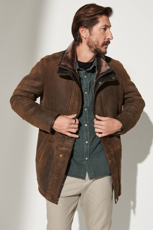 Lucas Spanish Merino Shearling Sheepskin Coat