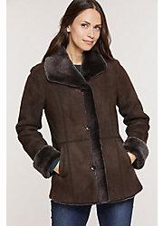 Jesslyn Brown Briesa Shearling Sheepskin Coat
