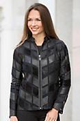 Tahlia Calfskin Leather Artisan Jacket