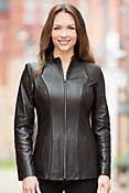 Sasha Lambskin Leather Jacket