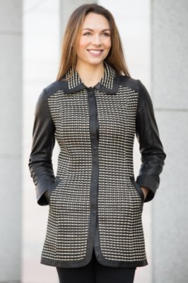 Terence Italian Lambskin Leather Coat