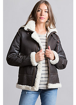 Womens Sheepskin Bomber Jacket - My Jacket