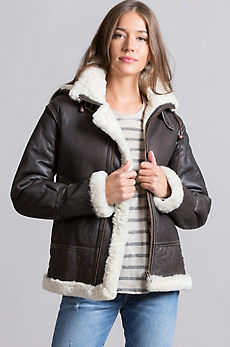 Jane Sheepskin B-3 Bomber Jacket