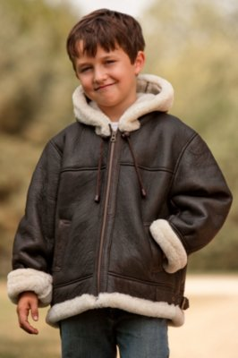 Sheepskin Coat For Kids | Down Coat