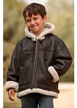 Kids Sheepskin Coat - Coat Nj
