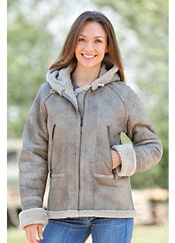 Maitena Sheepskin Bomber Jacket