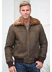 Maverick Sheepskin Bomber Jacket