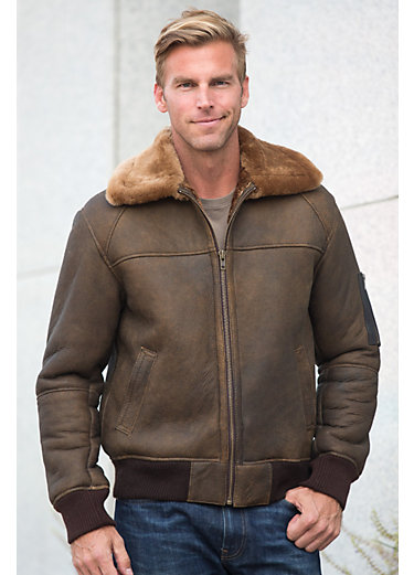 Maverick Sheepskin Bomber Jacket