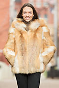 Myrna Red Fox Fur Jacket