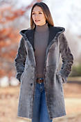 Giselle Reversible Shearling Sheepskin Coat