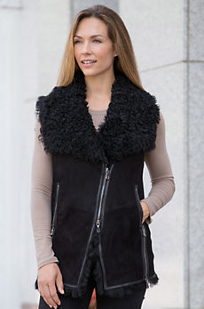Maxine Spanish Tigrado Sheepskin Vest