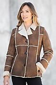 Renata Vintage Style Shearling Sheepskin Jacket