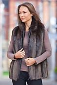 Diane Long-Haired Beaver Fur Vest