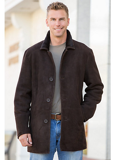 Long Sheepskin Coat Mens