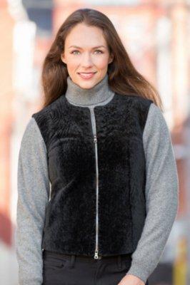 Francesca Astrakhan Lamb Vest