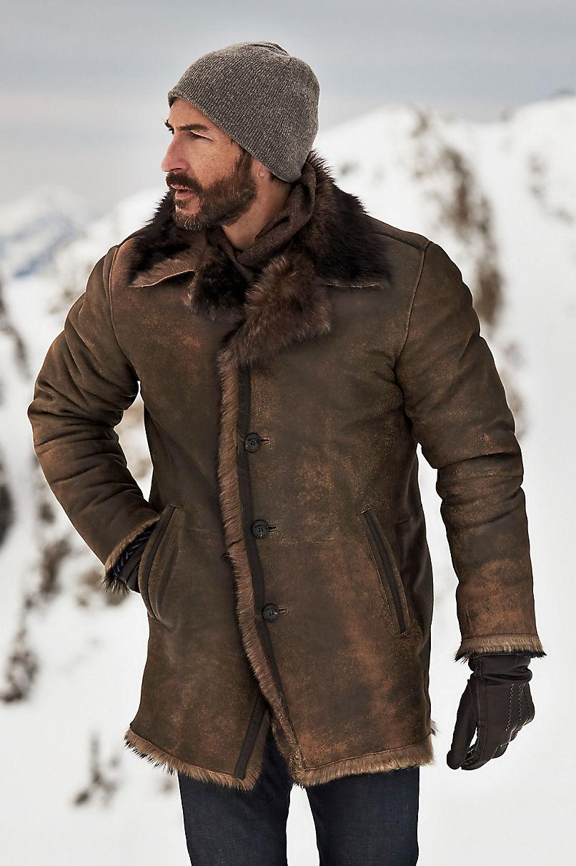 Xander Distressed Toscana Sheepskin Coat