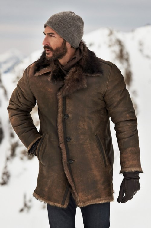Xander Distressed Toscana Sheepskin Coat