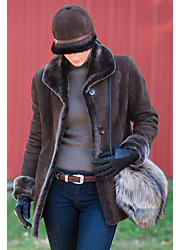 Jesslyn Shearling Sheepskin Coat