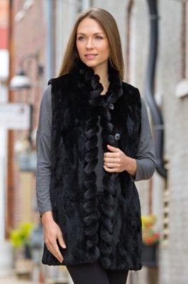 Dee Reversible Mink Fur Vest
