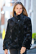 Marion Danish Mink Fur Jacket with Fox Fur Trim