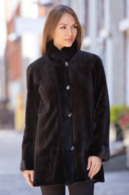 Pamela Reversible Danish Mink Fur Coat