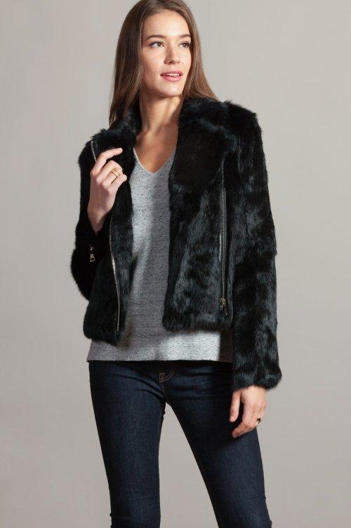 Robin Rabbit Fur Moto Jacket