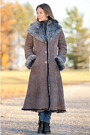 Dakota Hooded Toscana Sheepskin Coat | Overland