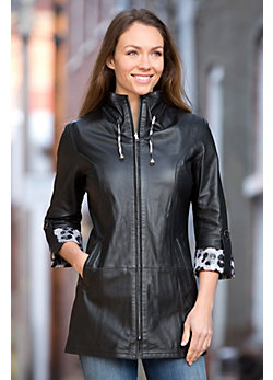 Rebecca Reversible Lambskin Leather Coat
