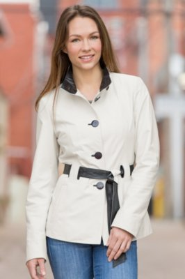 Tribeca Spanish Lambskin Leather Coat