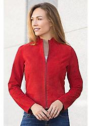 Nicky Reversible Lambskin Suede Leather Jacket