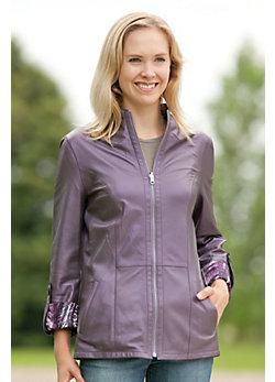 Reyhan Reversible Lambskin Leather Jacket