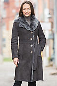 Adele Shearling Sheepskin Coat with Toscana Trim