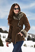 Felicia Shearling Sheepskin Jacket with Toscana Trim