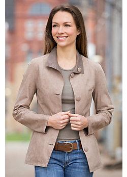 Dulce Reversible Lambskin Suede Leather Jacket