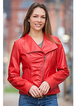 Bella Lambskin Leather Jacket