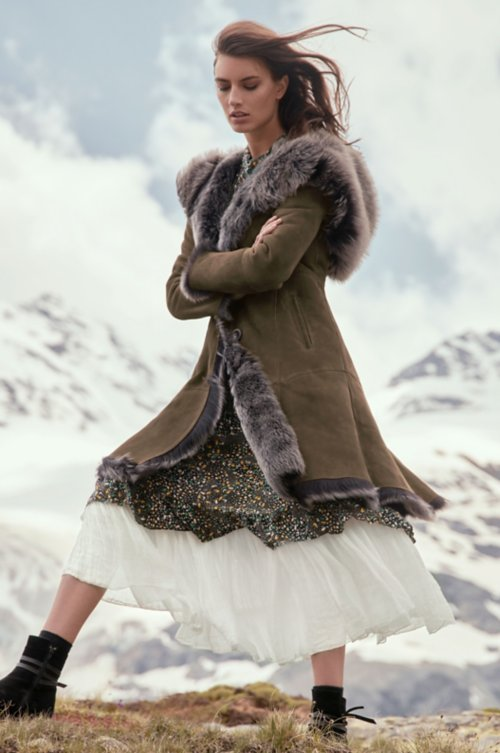 Theodora Hooded Toscana Sheepskin Coat