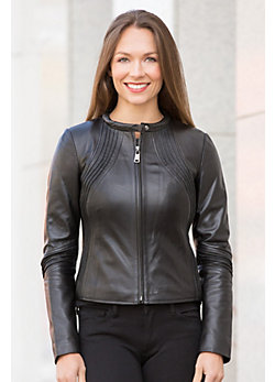 Devika Lambskin Leather Jacket