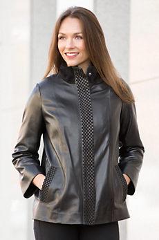 Ornella Lambskin Leather Jacket