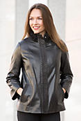 Ornella Lambskin Leather Jacket