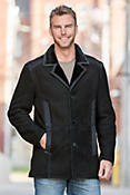 Asher Shearling Sheepskin Jacket with Wool Trim