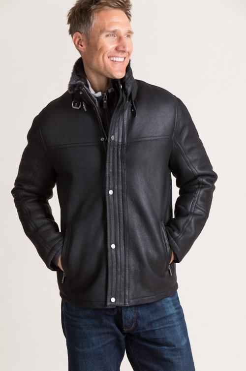 Danny Spanish Shearling Sheepskin Moto Jacket