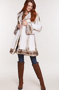 Genevieve Azurene Mink Fur Coat