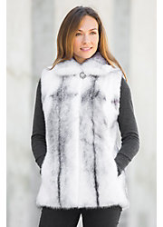 Corinthia Black Cross Mink Fur Vest