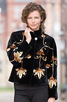 Zuki Lotus Beaver Fur Jacket