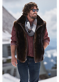 Quinn Otter Fur Vest