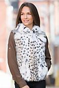 Maeve Lynx Fur Vest