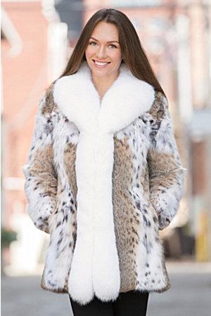 Amara Lynx Fur Jacket with Fox Fur Trim | Overland