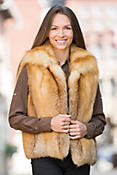 Ember Red Fox Fur Vest
